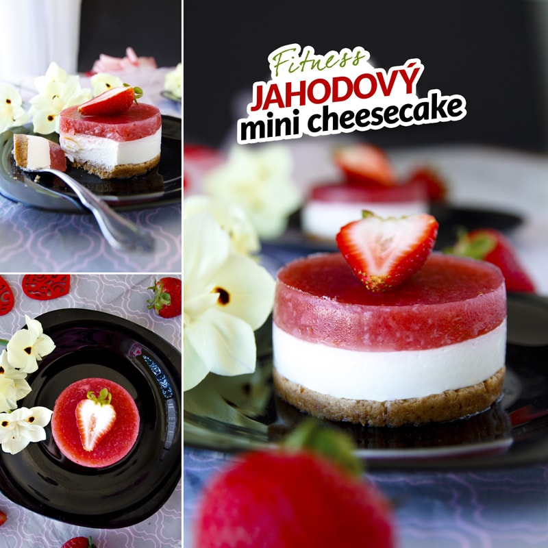 Fit jahodový cheesecake - recept Bajola