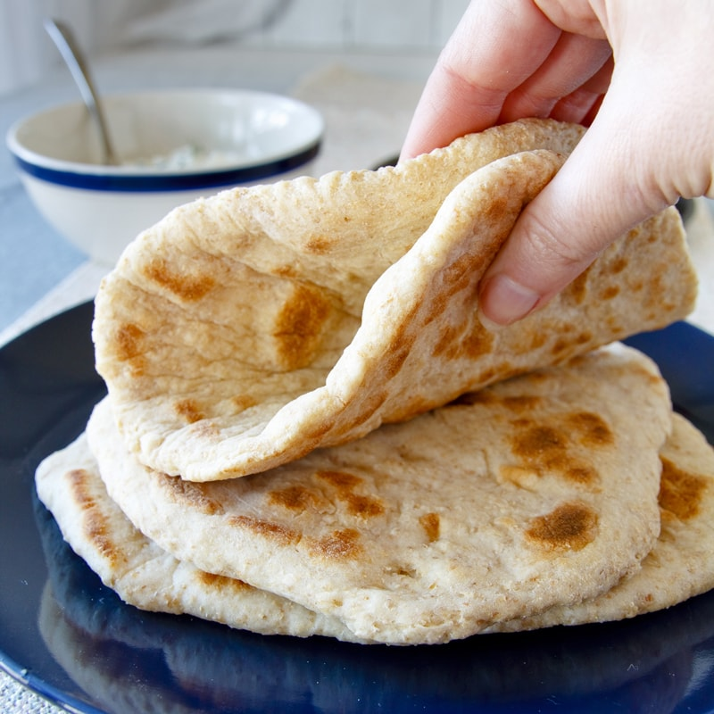 Fitness tvarohový pita chléb - recept Bajola