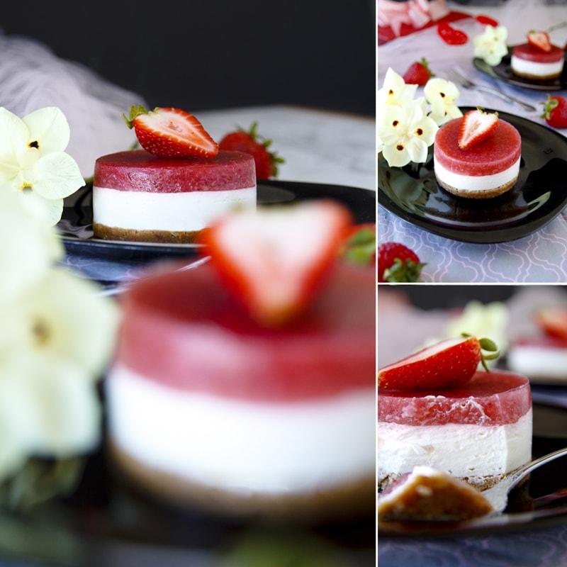Zdravý jahodový cheesecake - recept Bajola