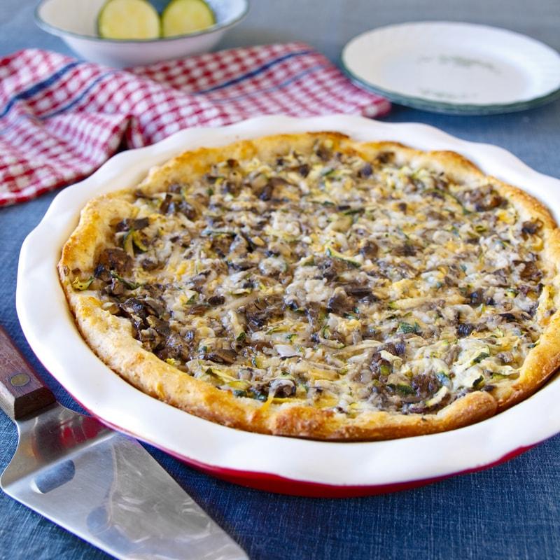Fit houbový quiche kyš slaný koláč - recept Bajola