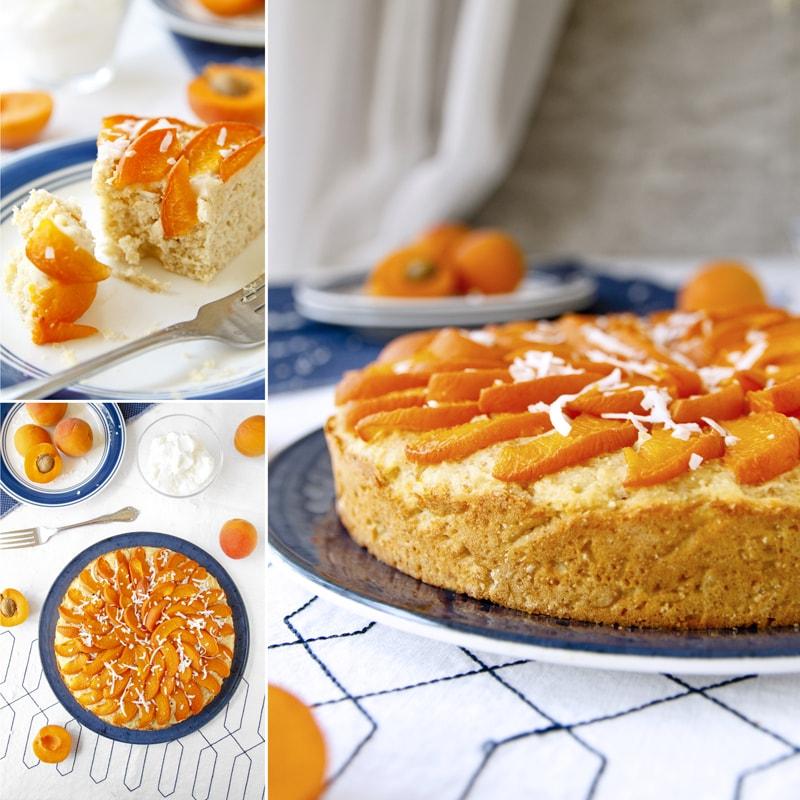 Fit meruňkový koláč s tvarohem - recept Bajola