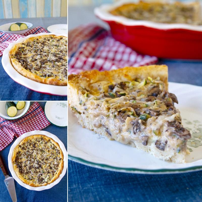 Zdravý houbový cuketový koláč - recept Bajola