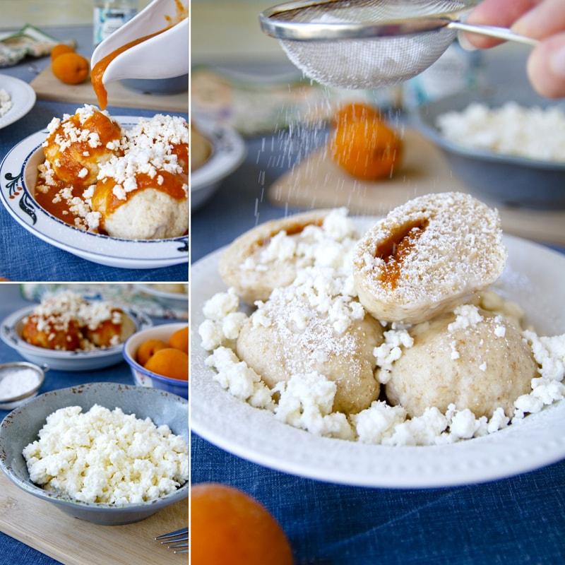 Fit zdravé kynuté ovocné knedlíky - recept Bajola
