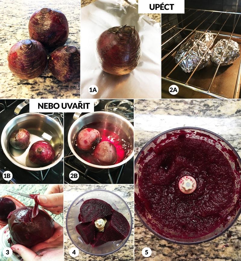 Řepové pyré - foto postup