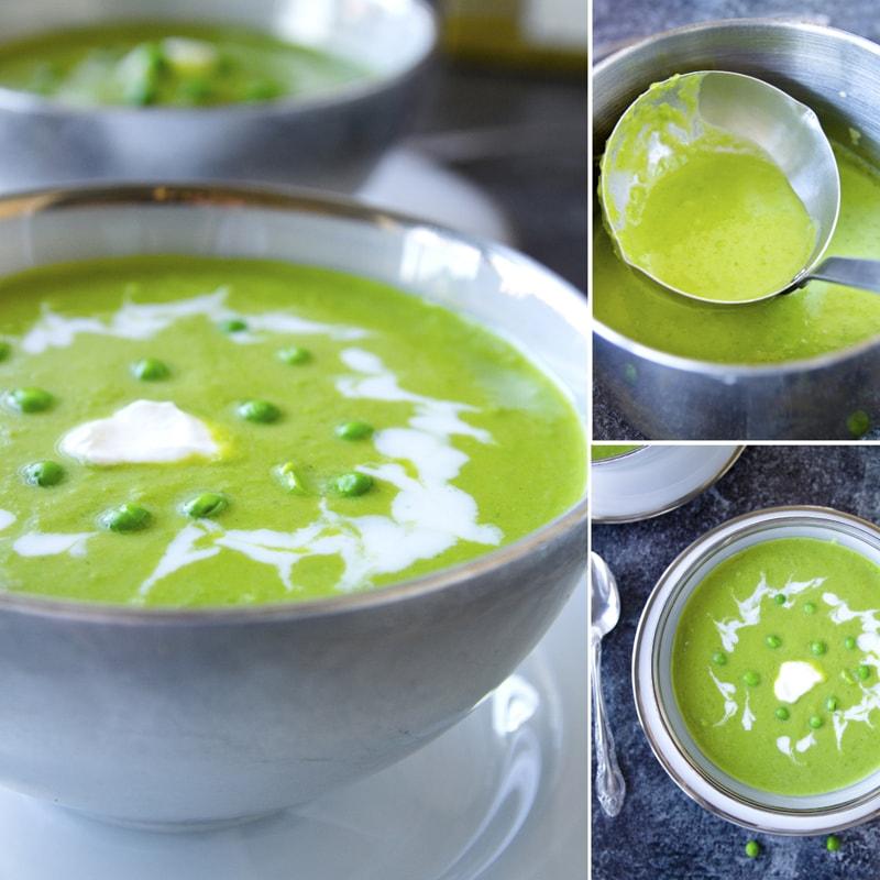 Fit hrachová polévka z mraženého hrášku - recept Bajola