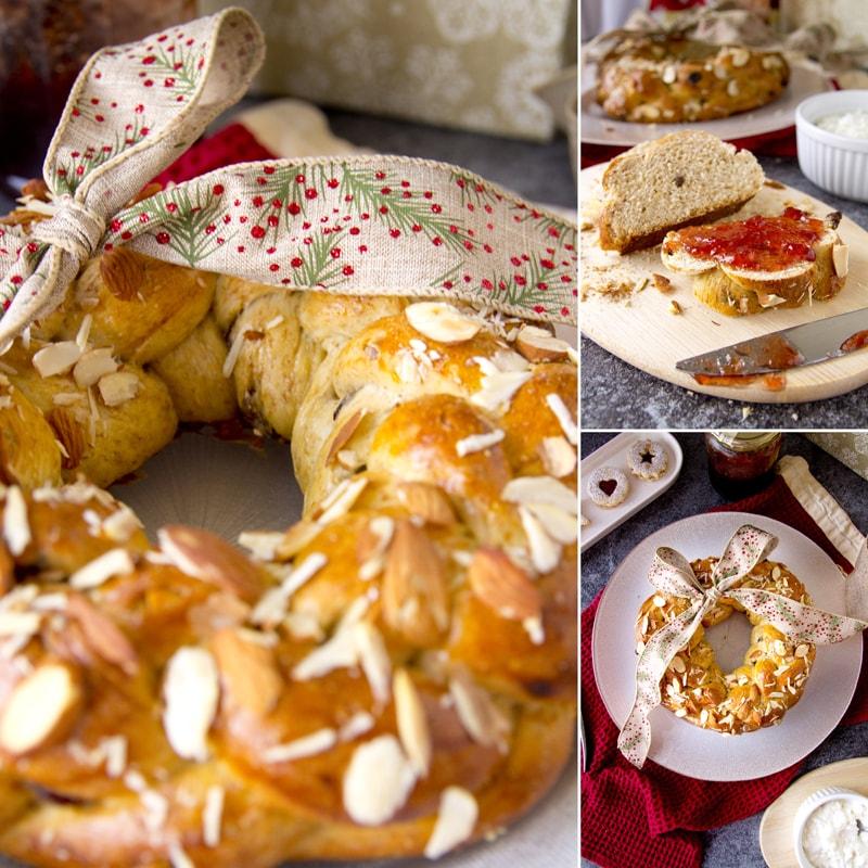 Fit vánočka věnec - zdravý recept Bajola