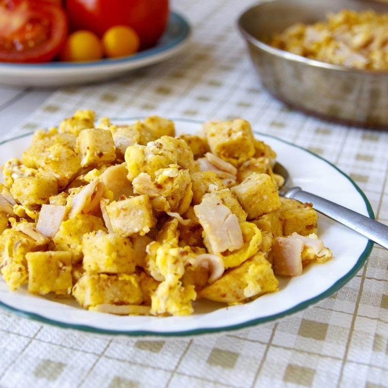 Fit knedlík s vajíčkem - recept Bajola