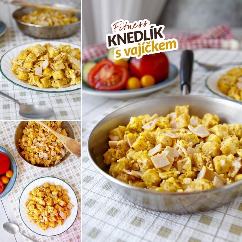 Fitness knedlík s vajíčkem - recept Bajola