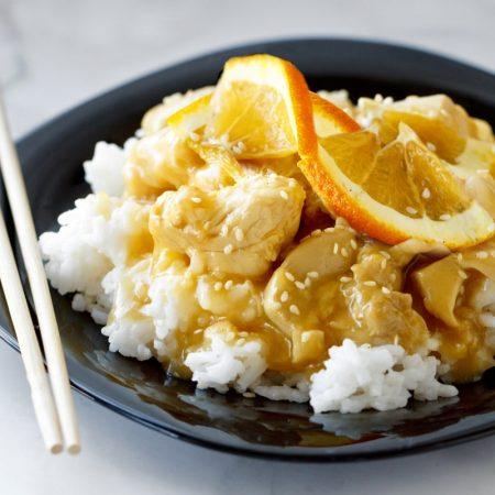 Fitness kuřecí maso pomerančová omáčka recept Bajola