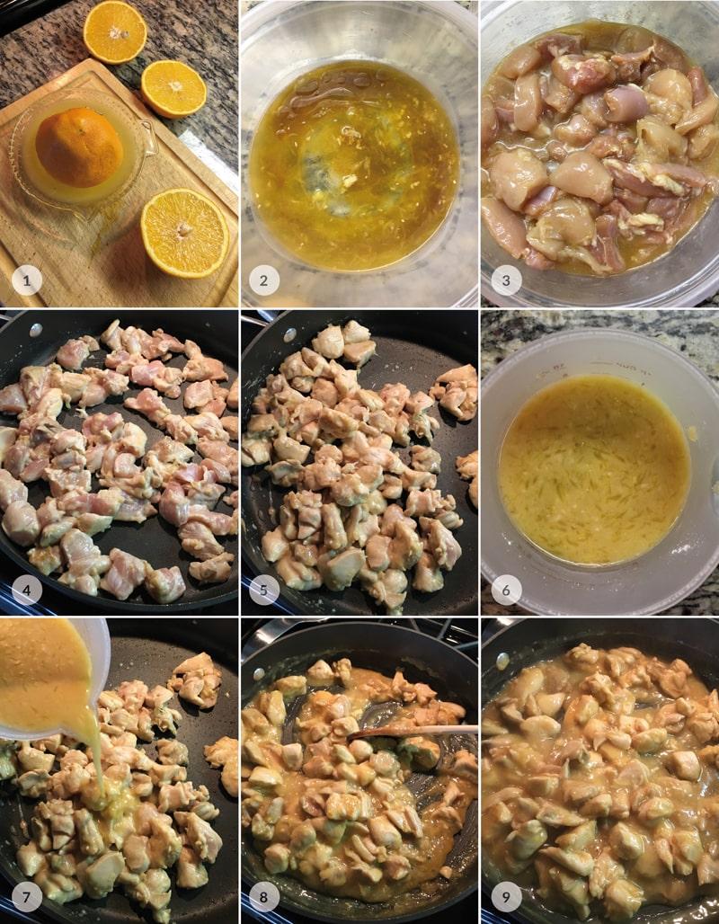 Fitness kuřecí v pomerančové omáčce - foto postup
