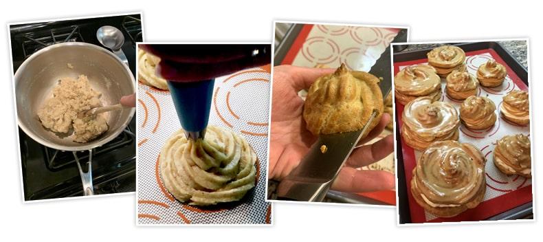 Recept na domácí větrníky - foto postup