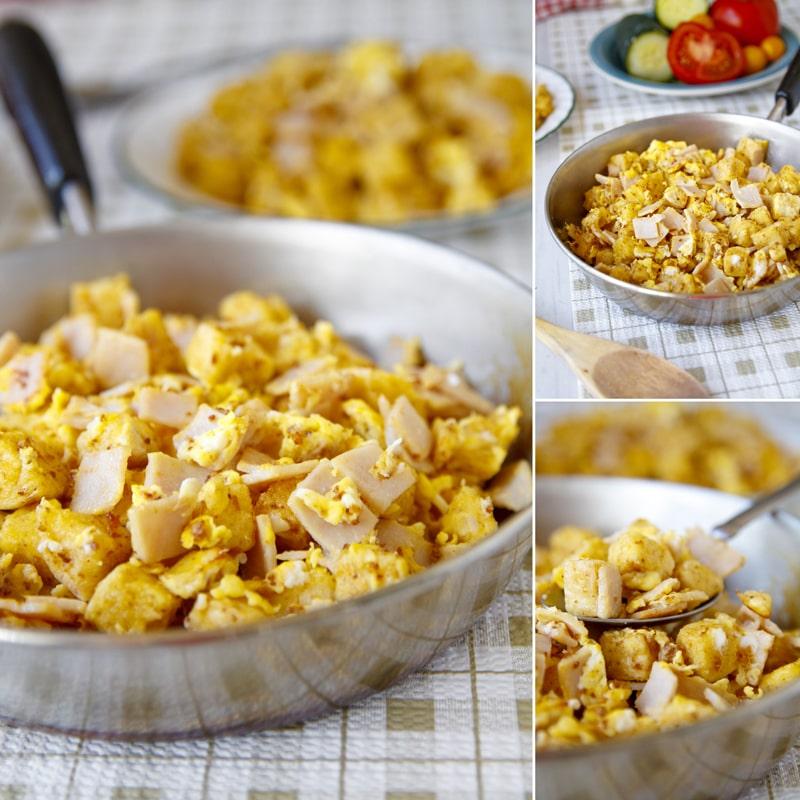 Zdravý knedlík s vajíčkem - recept Bajola