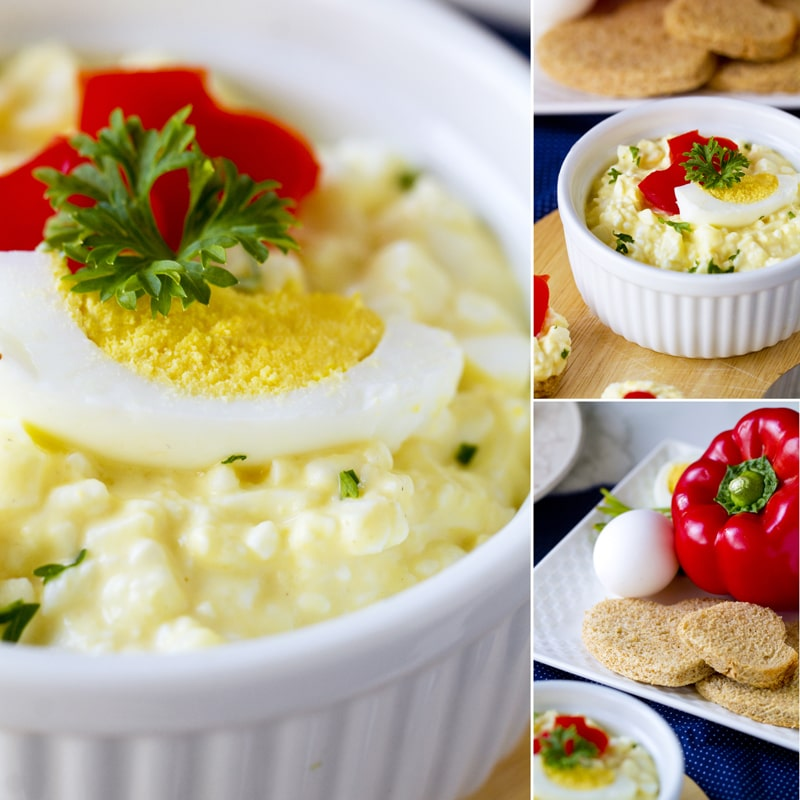 Domácí vajíčková pomazánka recept Bajola