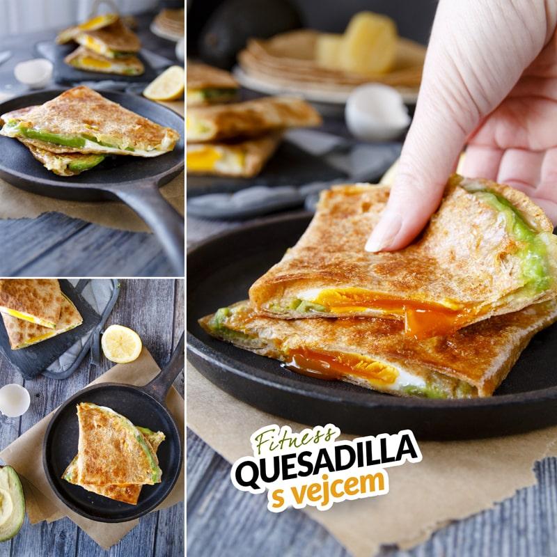 Fitness quesadilla plněná vejcem - recept Bajola