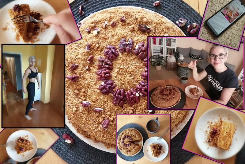 Fit medovník podle e-booku Fitness domácí cukrárna