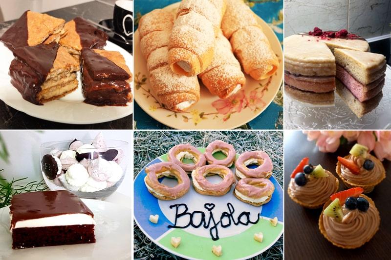 Fitness zákusky podle e-booku Fitness domácí cukrárna - štafetky, kremrole, punčové řezy, míša dort, pusinky, věnečky, ovocné košíčky
