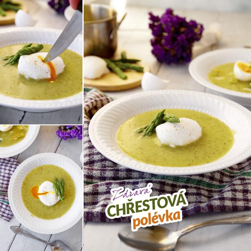 Fit chřestová polévka ze zeleného chřestu - recept Bajolafit