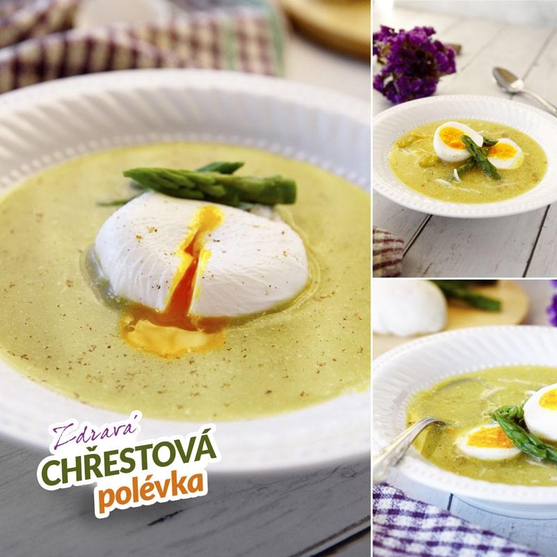 Fitness chřestová polévka se ztraceným vejcem - recept Bajola
