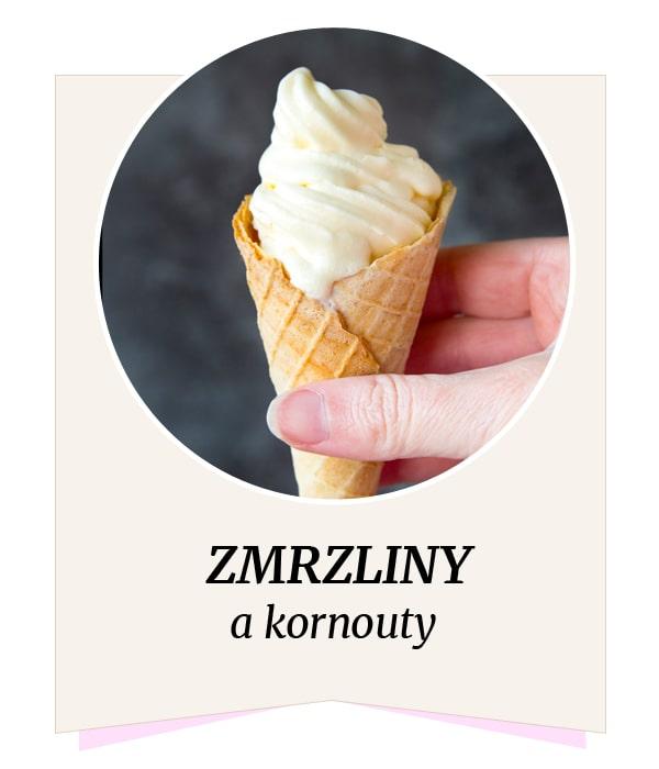 Fitness zmrzliny a kornouty