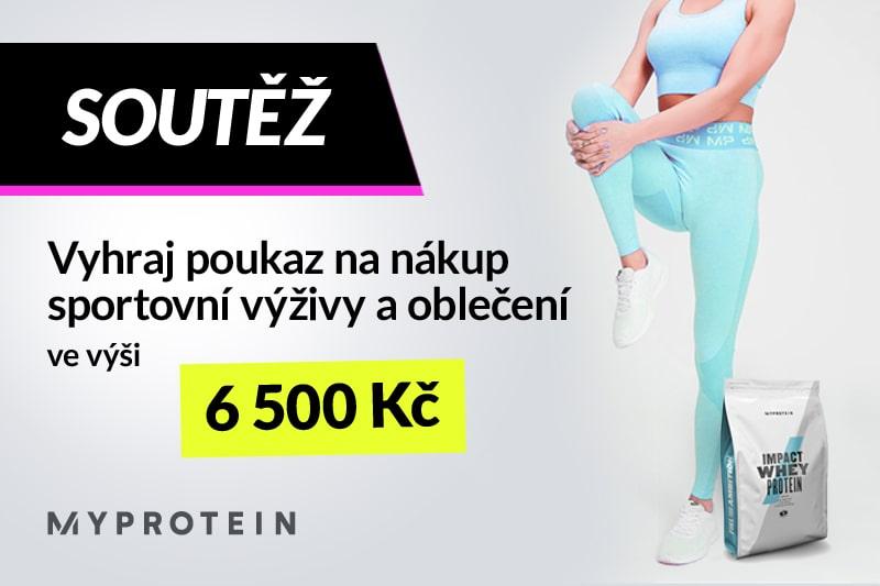 Soutěž - vyhraj poukaz na nákup sportovní výživy a oblečení MyProtein ve výši 6500 Kč