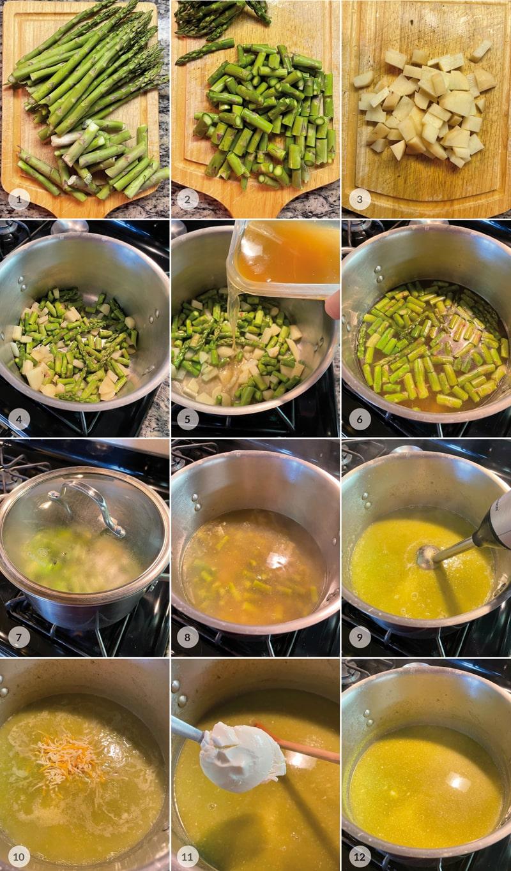 Zdravá chřestová polévka - foto postup