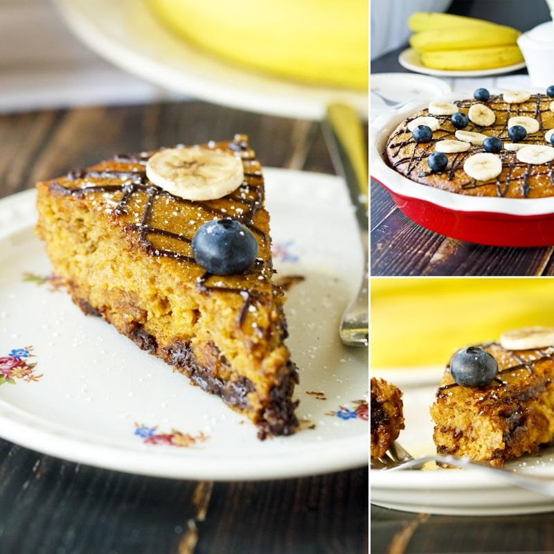 Fit banánový koláč - recept Bajola