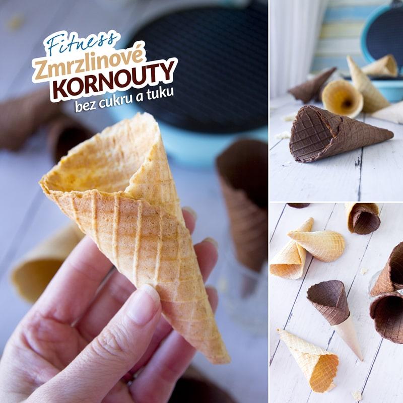 Fitness zmrzlinové kornouty bez cukru a tuku - Bajola