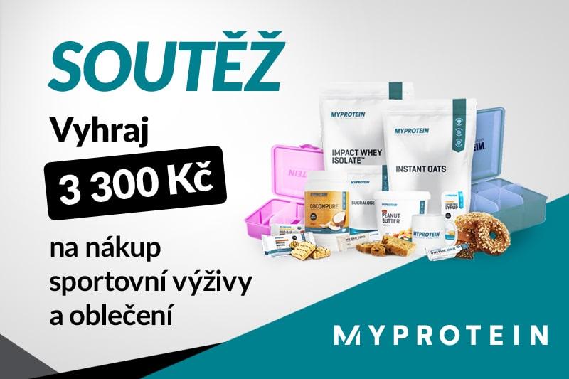 Soutěž MyProtein o 3 300 Kč